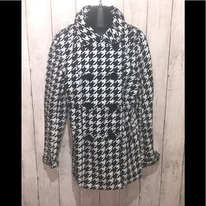 H&M houndstooth Double Breasted jacket  10-11y